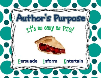 "Author's Purpose ""It's easy as PIE!"""