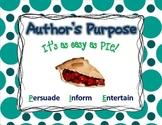 """Author's Purpose """"It's easy as PIE!"""""""