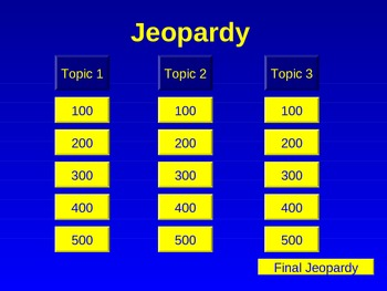 Author's Purpose Jeopardy Review