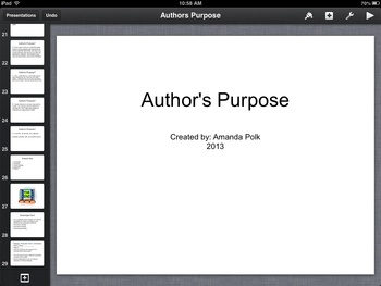 Author's Purpose Keynote Presentation