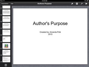 Author's Purpose Keynote Presentation