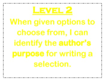 Author's Purpose Learning Scale