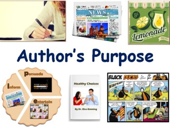 Author's Purpose Lesson Flashcards Game - flashcards, study guide, game