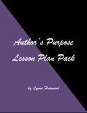 Author's Purpose Lesson Plan Pack
