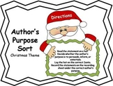 Author's Purpose Literacy Center Sort - Christmas Theme