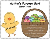 Author's Purpose Literacy Center Sort - Easter Theme