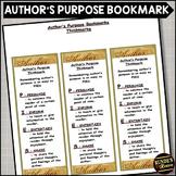 Author's Purpose - Literary Element Bookmark