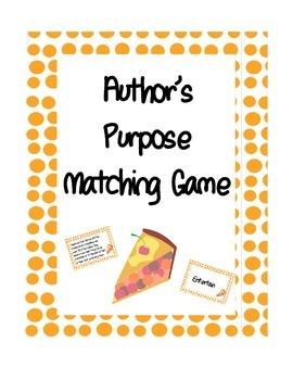 Author's Purpose Match Game