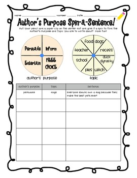 Author's Purpose Mega Pack!