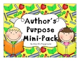 Author's Purpose Mini-Pack {{Craft and Sort Included}}
