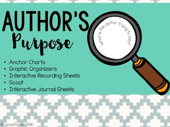 Authors Purpose {Mini Unit}