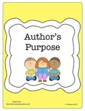 Author's Purpose Note-Taking and Interactive Activity