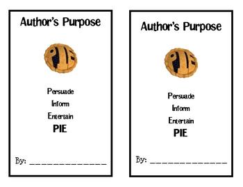 Author's Purpose PIE Book