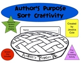 Author's Purpose PIE Craftivity Sort