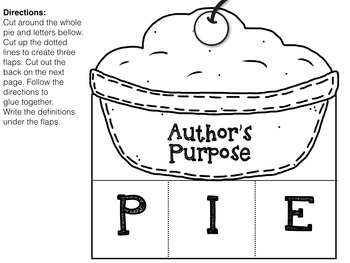 Author's Purpose PIE {Interactive Foldables & Worksheets}