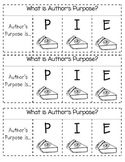 Author's Purpose PIE Interactive Notebook flap book insert