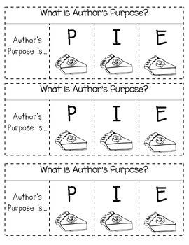 Author's Purpose PIE Interactive Notebook flap book insert