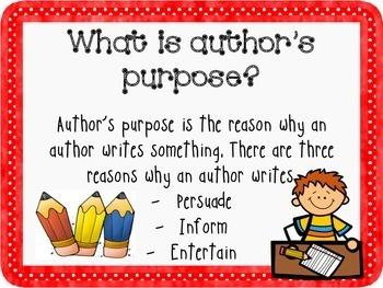 Author's Purpose P.I.E. Interactive Powerpoint