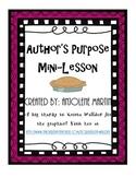 Author's Purpose P.I.E. Mini Lesson