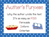 "Author's Purpose ""PIE"" Posters- Persuade, Inform, Entertain"