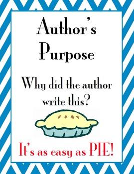 Author's Purpose PIE Posters with Chevron Border