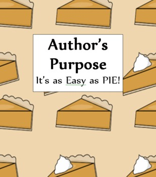 Author's Purpose-PIE Practice