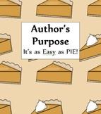 Author's Purpose-PIE Practice