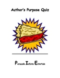 Author's Purpose PIE Quiz