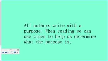 Author's Purpose PIE SmartBoard Lesson Full
