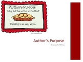 Author's Purpose: PIE'ED PPT