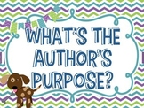 Author's Purpose Posters Dog Theme!