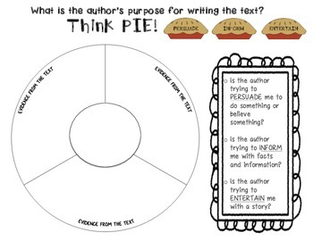 Author's Purpose Passages, Graphic Organizer, and Activities