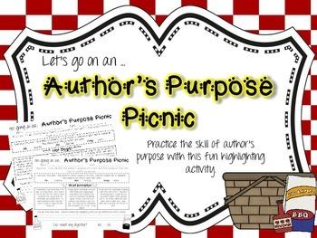 Author's Purpose Printables
