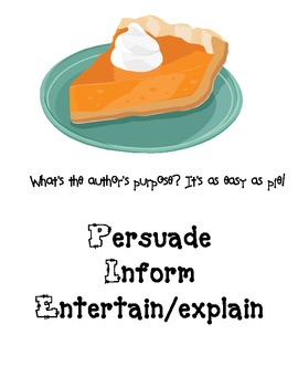Author's Purpose Pie Piece