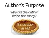 Author's Purpose- Pie Posters