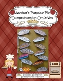 Author's Purpose Pie Reading Comprehension Craftivity