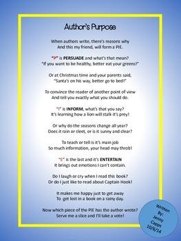 Authors Purpose Poem