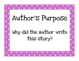 Author's Purpose Polka Dot Posters