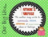 Authors Purpose Poster