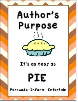 Author's Purpose Poster