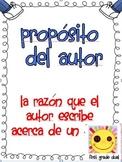 Author's Purpose  Poster In Spanish