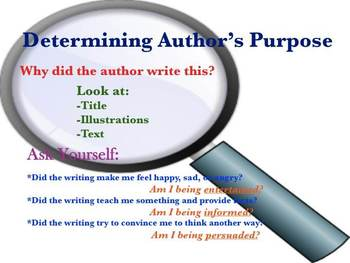 Author's Purpose Poster & Process Chart