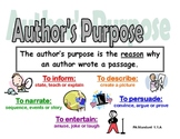 Author's Purpose Poster (w/ Pennsylvania Standards)