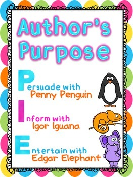 Author's Purpose Posters {FREEBIE}