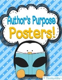 Author's Purpose Posters and Activity