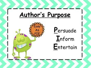 Author's Purpose Power Point Unit (72 slides)