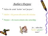 Author's Purpose 21-Slide PowerPoint PIE Reasons ELA Common Core CCSS Gr3-5 LAFS