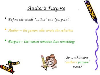 Author's Purpose 21-Slide PowerPoint PIE Reasons ELA Common Core CCSS Gr3-5 LAFS