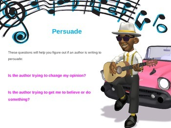 Author's Purpose PowerPoint : Persuade, Inform, Entertain