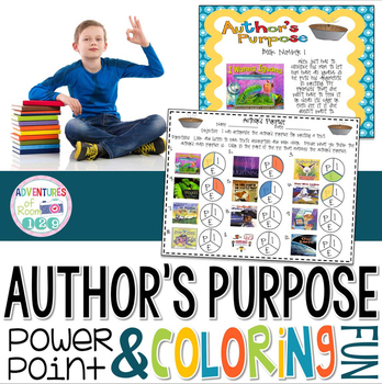 Author's Purpose PowerPoint and Coloring Fun! (Common Core Aligned)